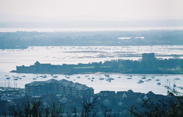 Portchester Castle: within a stripy view