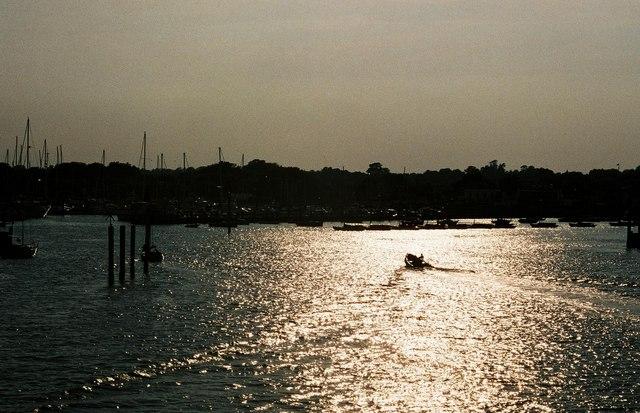 Lymington marina at sunset