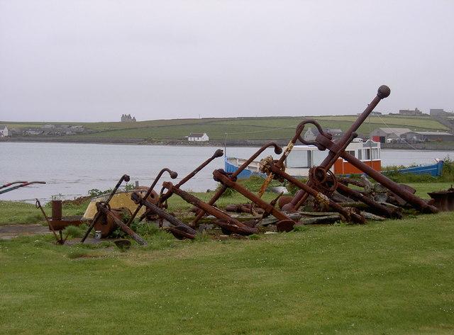 Anchors at Pierowall Bay