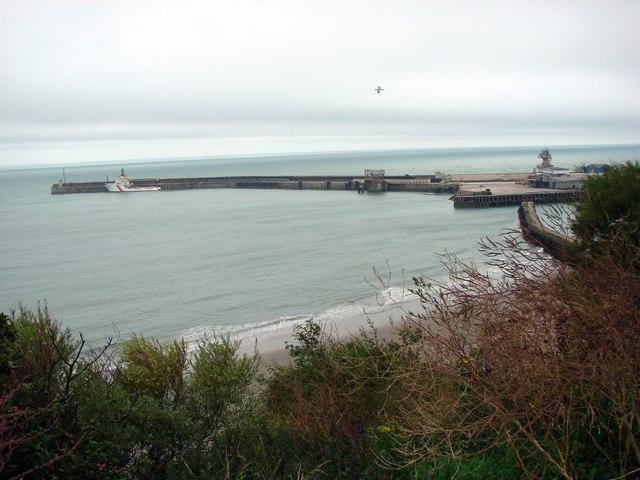 Folkestone Harbour Pier.