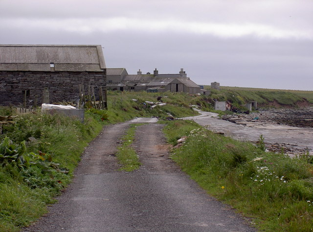 Coastal track to North Grinaby, Skelwick, Westray