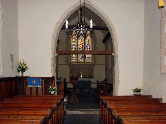 Interior of St Mary Magdalene's Church, Denton, Kent.
