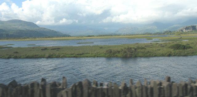 The Glaslyn estuary at high tide