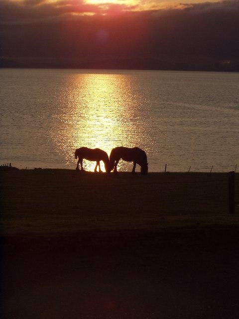 Sunset at Duntulm