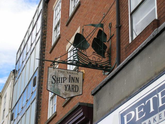 Ship Inn Yard sign