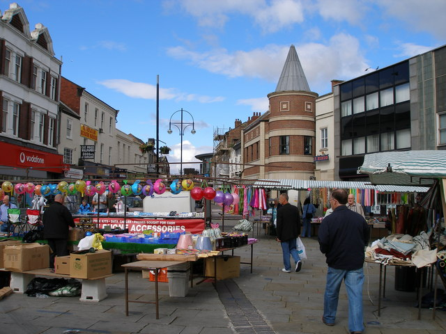 Dovecot Street from the marketplace