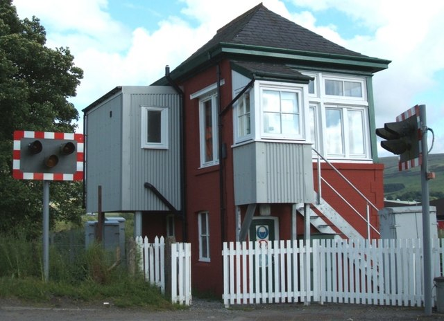 Blackford Signalbox from the rear