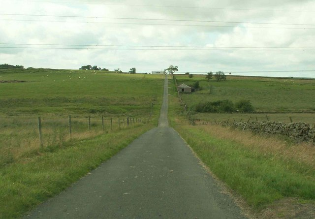Gated road between Longhirst and A69