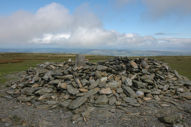 Trig point and shelter on Black Combe