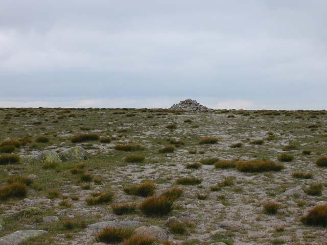 The summit  cairn of Beinn a' Bhuird