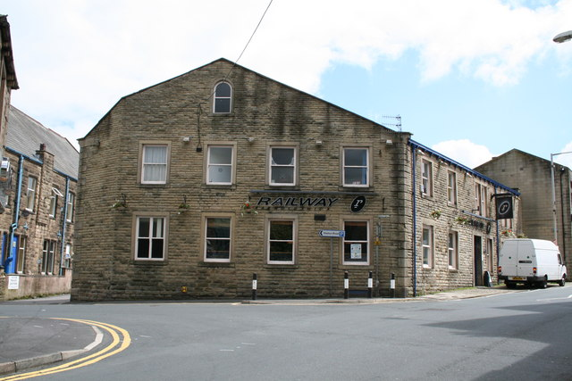 The 'Railway' public house, Barnoldswick, Yorkshire