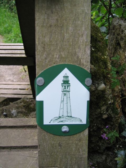 Two Lighthouses Walk Marker near Trwyn-du