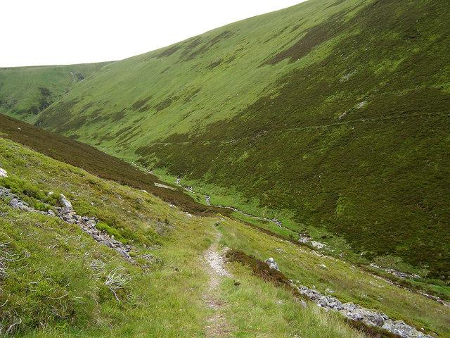 Stalker's path above the Allt Sheicheachan.