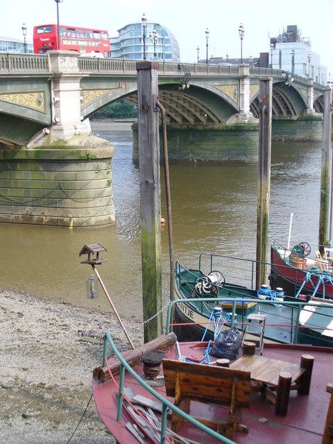 Low Tide at Battersea Bridge