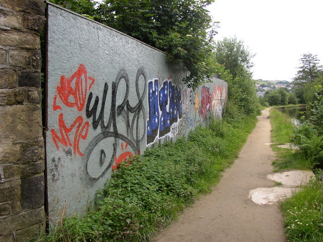 Graffiti at Westwood Mills, Low Westwood, Golcar
