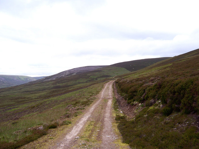 The track on the western flank of Beinn a'Chait.