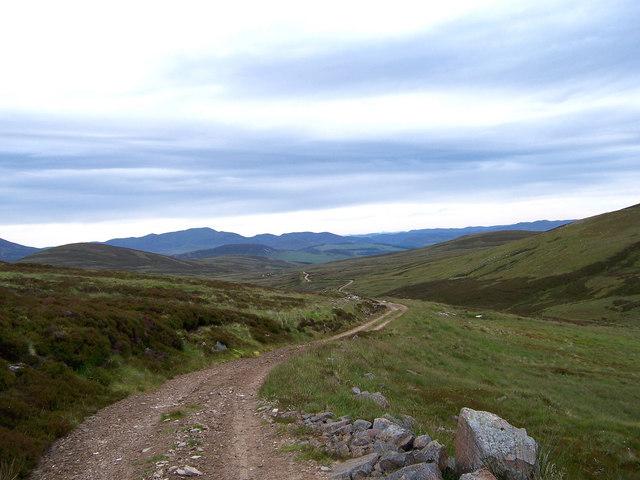 The track on the east bank of the Allt Slanaidh.