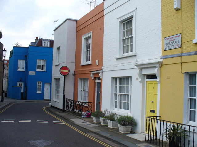 Colourful Burnsall Street