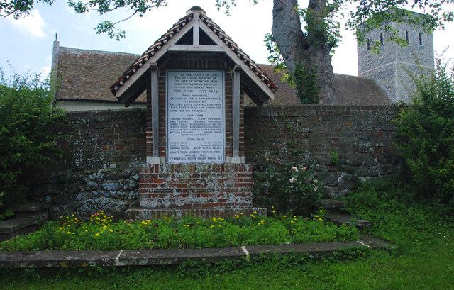 The War Memorial, Monkton, Thanet, Kent