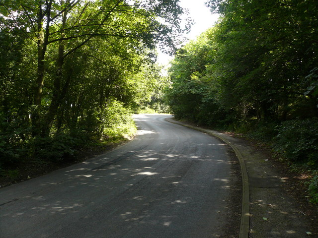 Pilsley Road - View looking up Hagg Hill