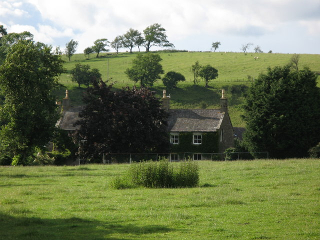 The Green, with surrounding pastures and woodland