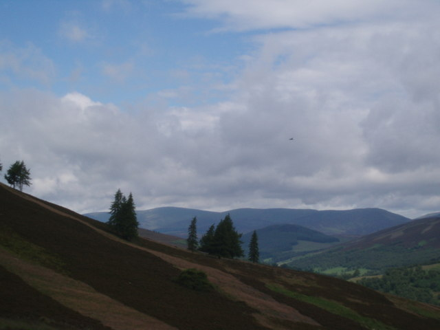 Hillside on Long Goat with an RAF Tornado