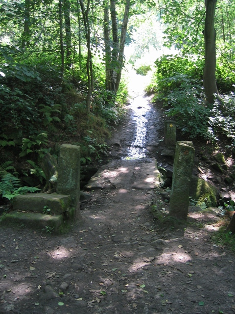 Stone Footbridge in Adel Woods
