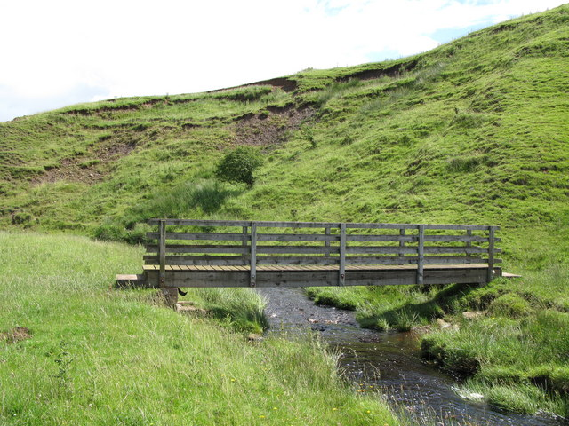 Footbridge over Gofton Burn near Sheilahaugh