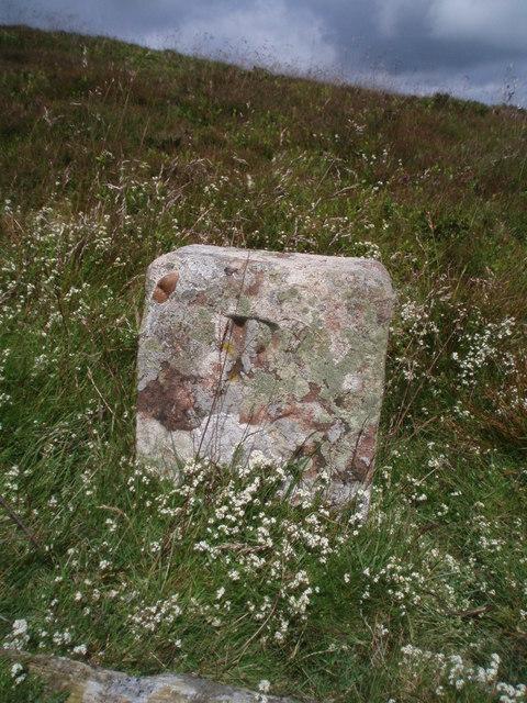 Boundary marker on Long Goat.