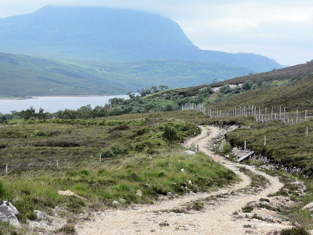 Woodland track beside Loch Hope