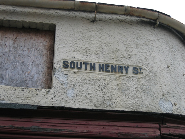 South Henry Street Sign