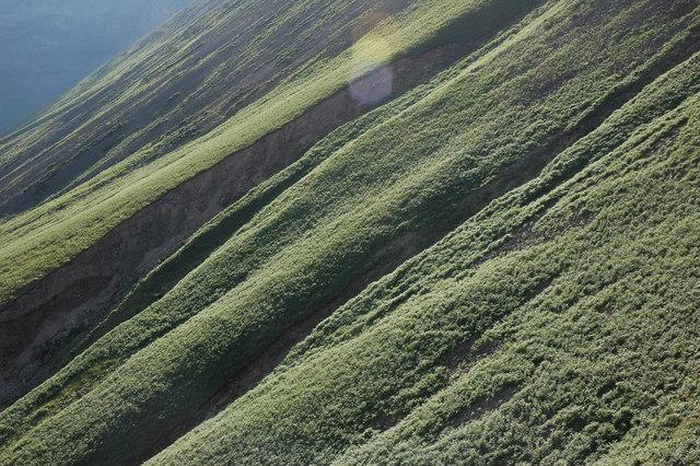The bracken covered lower slopes of Kirk Fell