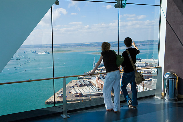 View across Portsmouth harbour from Spinnaker Tower