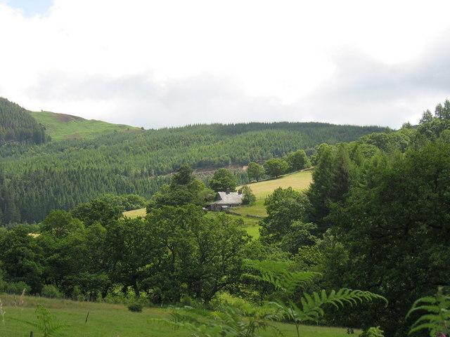 Dolfrwynog Cottage from Bwlchrhoswen-isaf