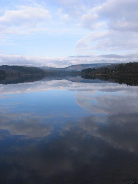 Llwyn-on Reservoir from the dam