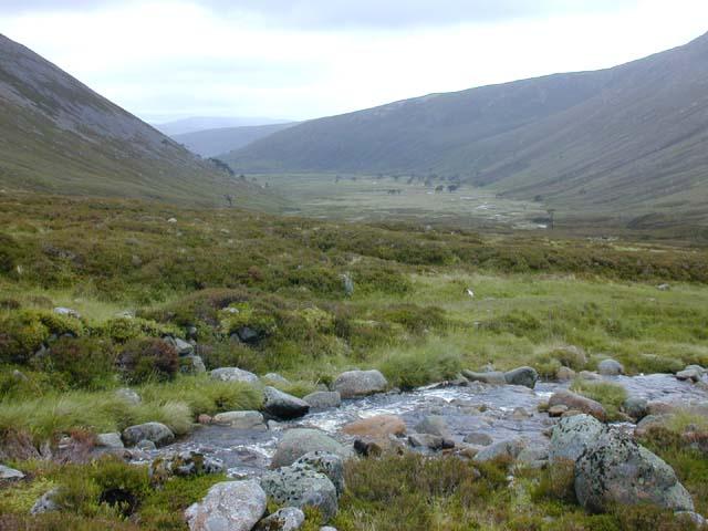 View down Glen Derry