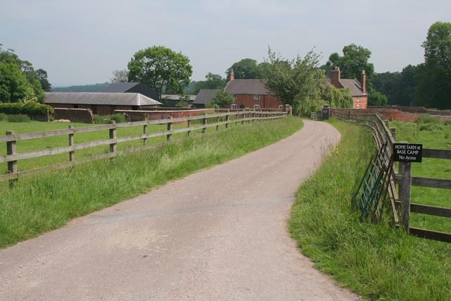 Entrance to Home Farm, Calke