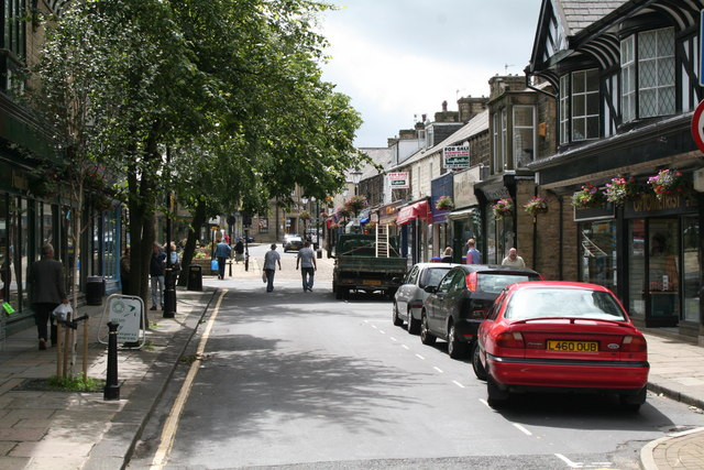 Looking south-west along Albert Road, Barnoldswick