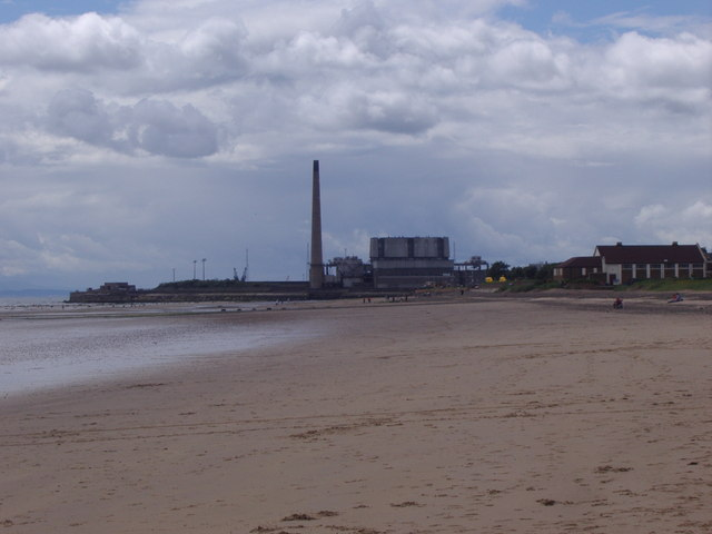 Along the beach at Leven towards Methil power station