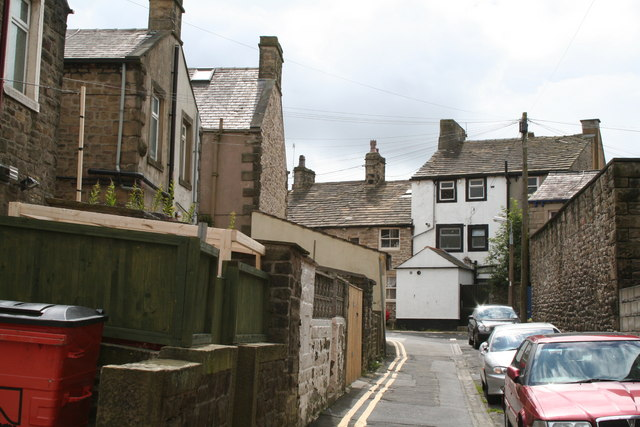 Backs of shops on Albert Road, Barnoldswick