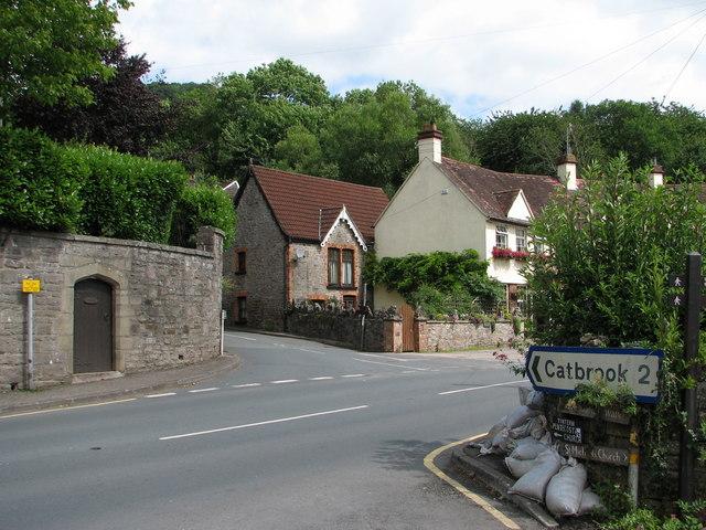 Tintern - the Catbrook road junction