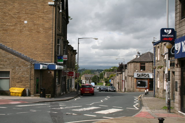 The beginning of Skipton Road, Barnoldswick, Yorkshire