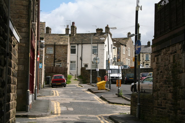 Looking into Brook Street, Barnoldswick