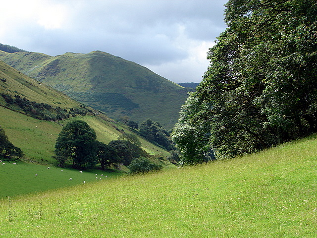 View from the path to Castell y Bere
