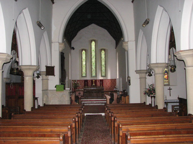Holy Trinity church, view east