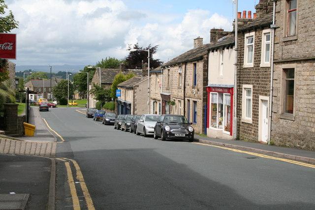 Skipton Road, (south end), Barnoldswick, Yorkshire