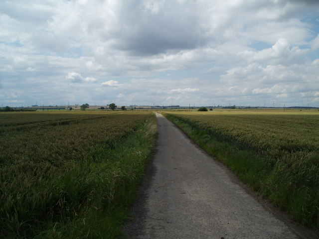 Lane near North  Ewster looking towards Epworth