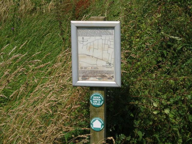 Conservation Walks sign