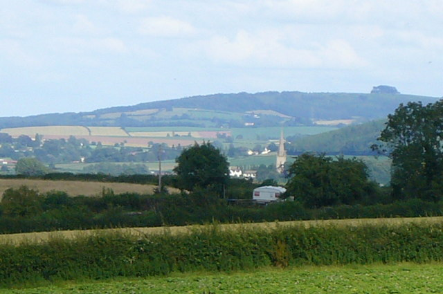 Ross Church Spire with May Hill in Background