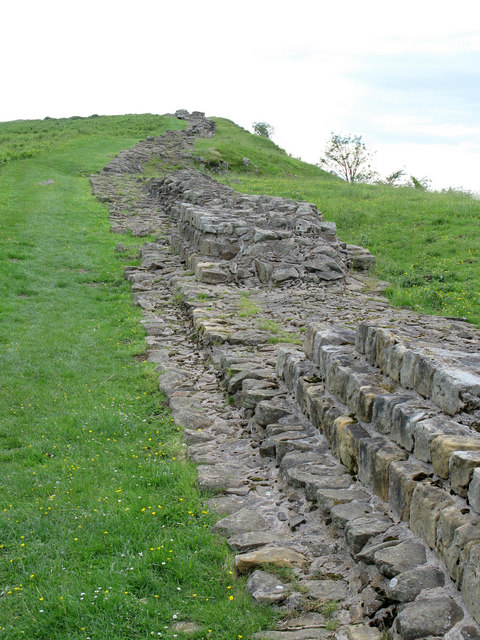 Hadrian's Wall near Milecastle 35